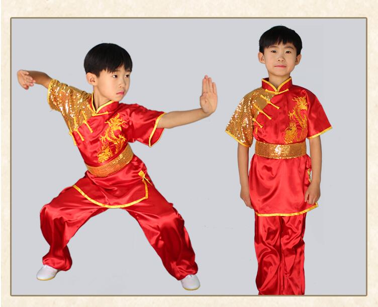Wushu Stretch Silk Dragon Uniform 2