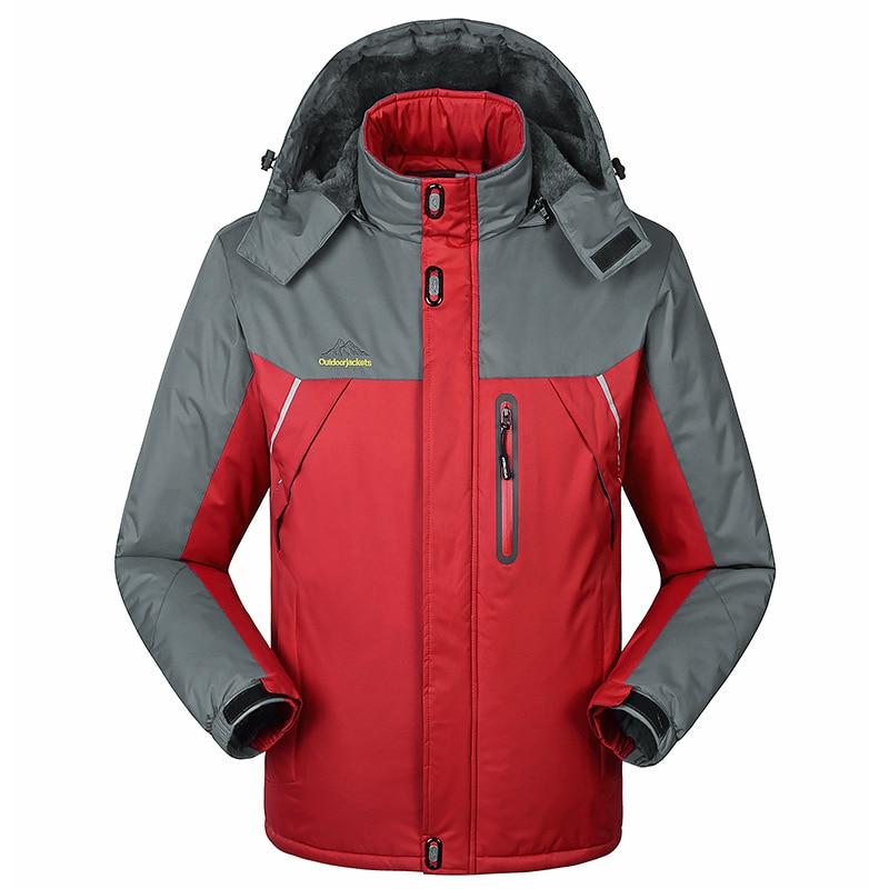 ФОТО -30 C FIT Plus Thick Velvet Down & Parka coat 6XL 7XL 8XL 2014 winter jacket men waterproof windproof chaquetas hombre