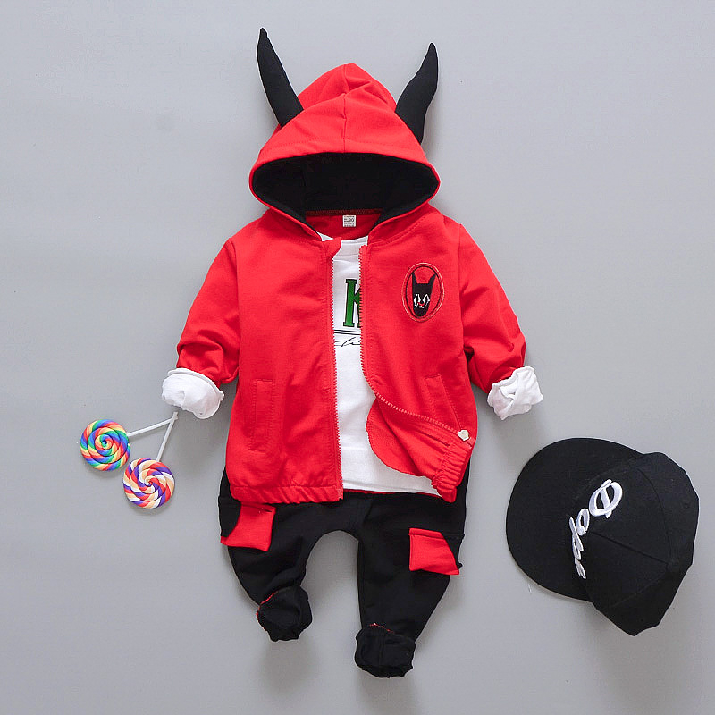 Suits For Boys Girls Baby Clothes Fashion Suit Coat T-Shirts Pants 3pcs Children's Clothing Sets Kids Autumn Outfit School Wear toddler tracksuit autumn baby clothing sets children boys girls fashion brand clothes kids hooded t shirt and pants 2 pcs suits