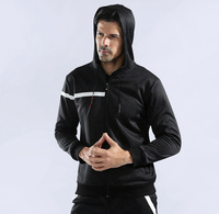 562c5bc366 Winter Running Jacket Men Hooded Fitness Coat Long Sleeve Sport Windproof  Coat With Pocket Outdoor Clothing. US $35.57 US $24.54. Execução Homens  Jaqueta ...
