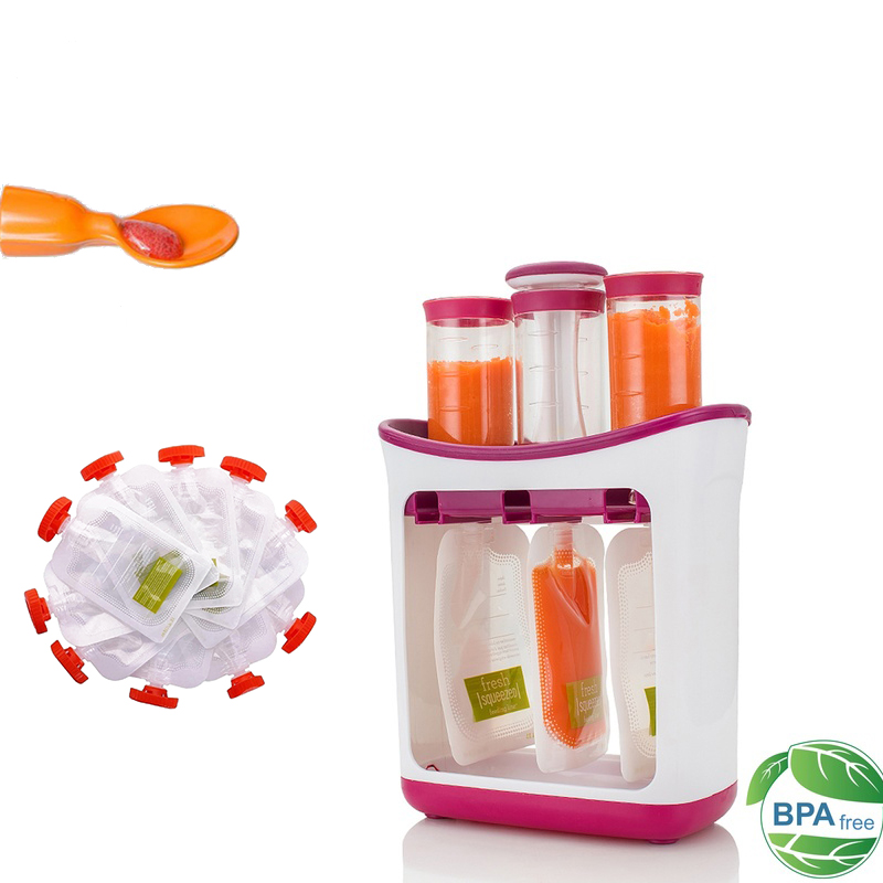 Squeeze Food Station Homemade Baby Food Dispenser Bags Food Maker Storage Packing Machine Juice Puree Pack Feeding Pouches