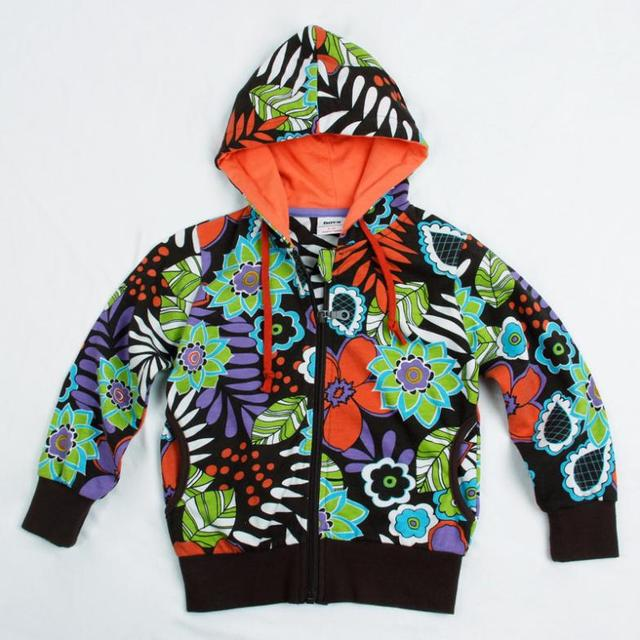 flowers leaves kids hoodies children wear jacket zipper new year Sweatshirts for teenage girls baby sports suits cotton clothing