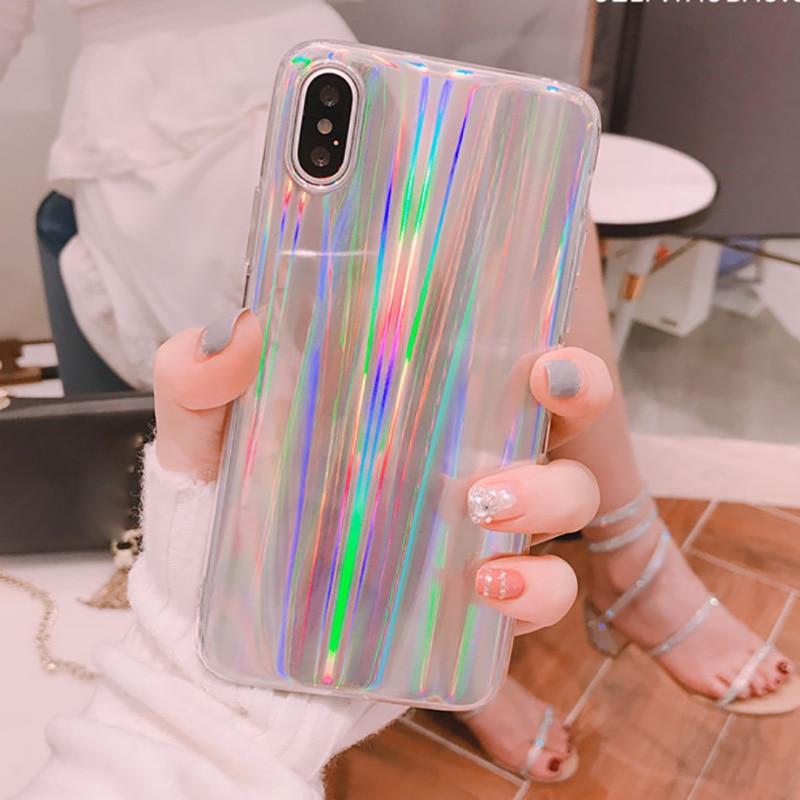 coque iphone x holographique