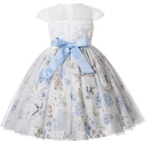 Image 2 - Cielarko Girls Party Dress Flower Lace Kids Princess Birthday Dresses Formal Floral Occasion Children Prom Dress for 2 11 Years