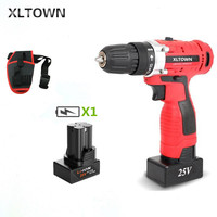 XLTOWN 25V electric screwdriver home Multifunction electric drill rechargeable lithium battery electric screwdriver power tools