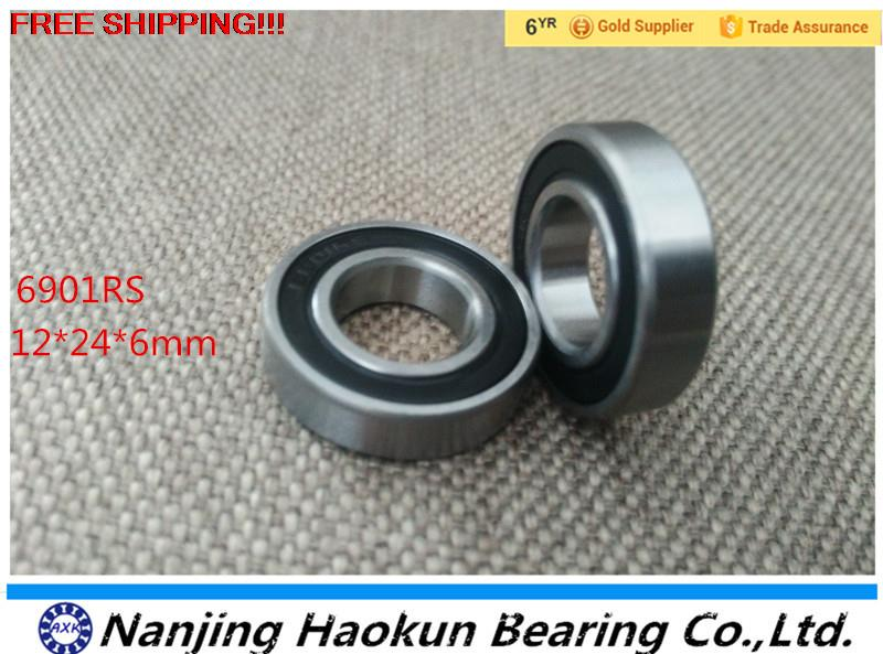 2017 Hot Sale Special Offer Rolamentos Free Shipping 6901-2rs 6901 Hybrid Ceramic Deep Groove Ball Bearing 12x24x6mm 61901 axk free shipping 1pcs 6901 2rs hybrid ceramic si3n4 ball 61901 ceramic bearing 12 24 6mm 6901 2rs