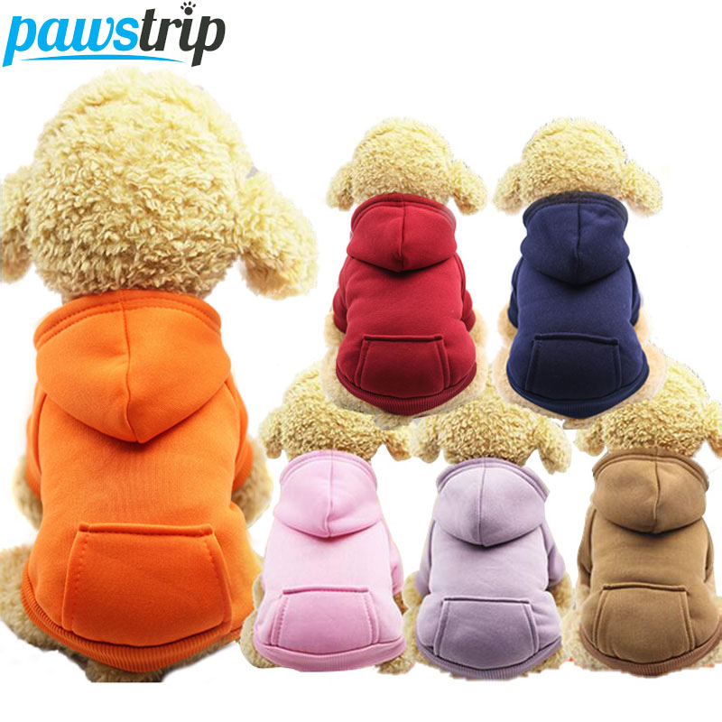 Pawstrip Xs-2xl Pet Dog Hoodie Coat Soft Fleece Warm Puppy Clothes Dog Sweatshirt Winter Dog Clothes For Small Dogs Pet Shop