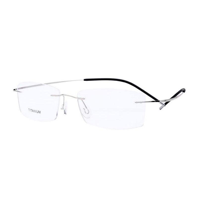 Super Light And Flexible Rimless Titanium Eyeglasses Frame For Women And Men Eyewear Optical Prescription Spectacles