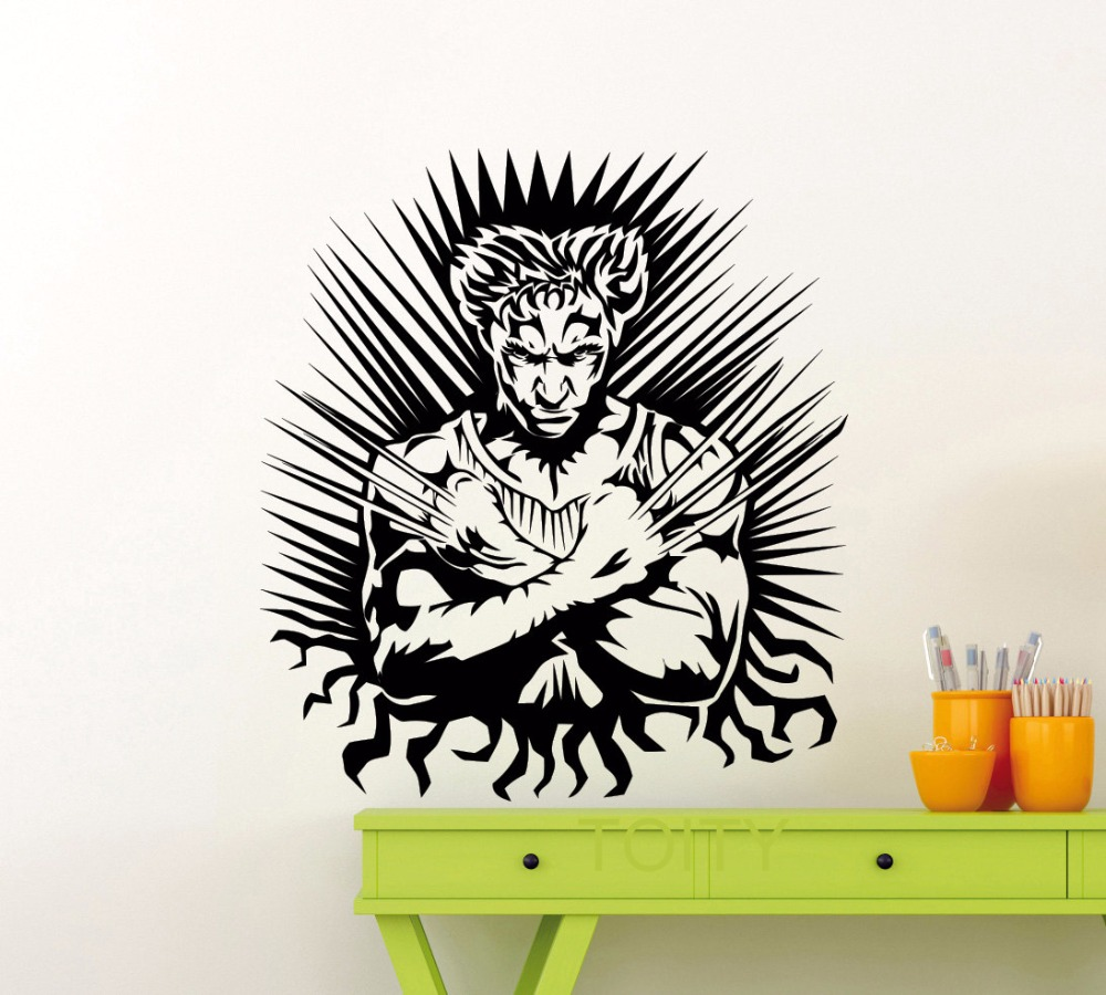 Arte Do Cartaz De Parede Adesivo De Super Her Is Wolverine