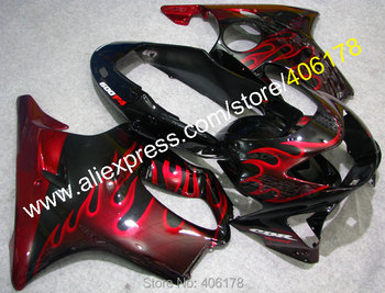 CBR 600 F4 For Fairing CBR600F4 1999-2000 cbr600 99-00 Red Flame Motorcycle Fairing Kits (Injection molding)