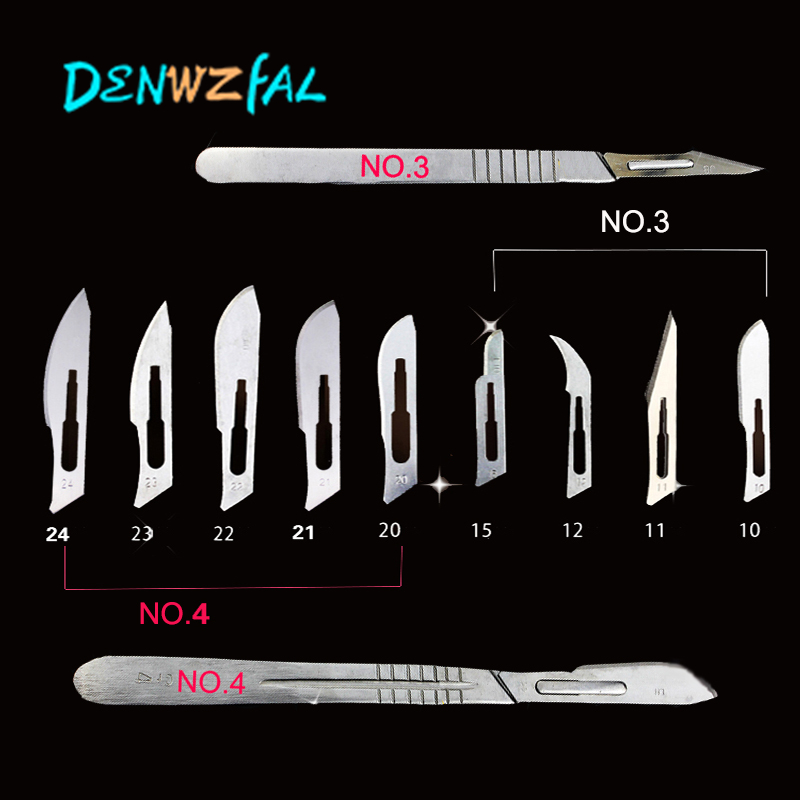50 Pcs Scalpel Blades For Dental Medical Stainless Steel Surgical Blade 20#/21#/22#/23#/24#