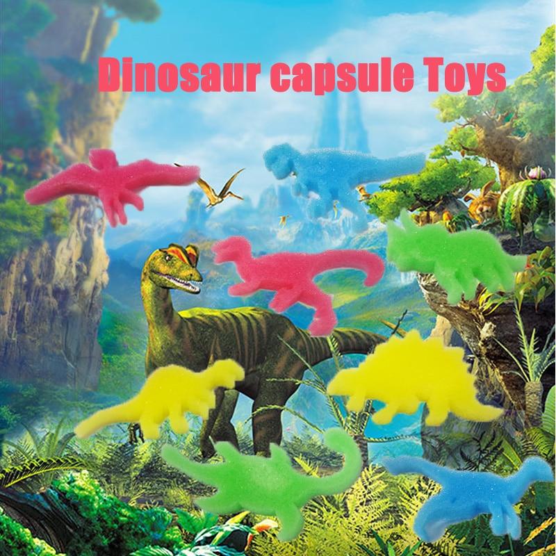 2019 New 12pcs Dinosaur Animal Cartoon Gift Magic Eggs Baby Cognition Montessori Toys Kids Bath Toy Capsule Toys For Children