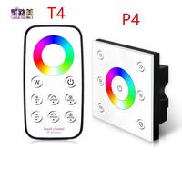 DC12V DC24V 4CH touch panel RGBW controller Smart RF wireless Remote Panel Dimmer 4A*4CH for 5050 RGBW led strip lamp
