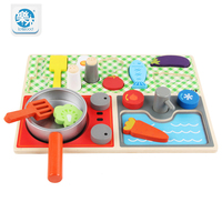 Wooden Baby Real Life Simulation Kitchen Cooking Toy Cosplay For Kids New Year Gifts