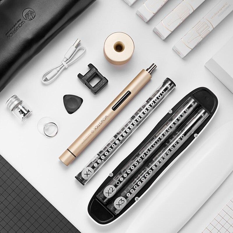 Электрический отвёртки комплект беспроводной с 56 шт. Набор бит Wowstick 1 Pro (1 +) Magnetizer мини точность мощность Набор отверток
