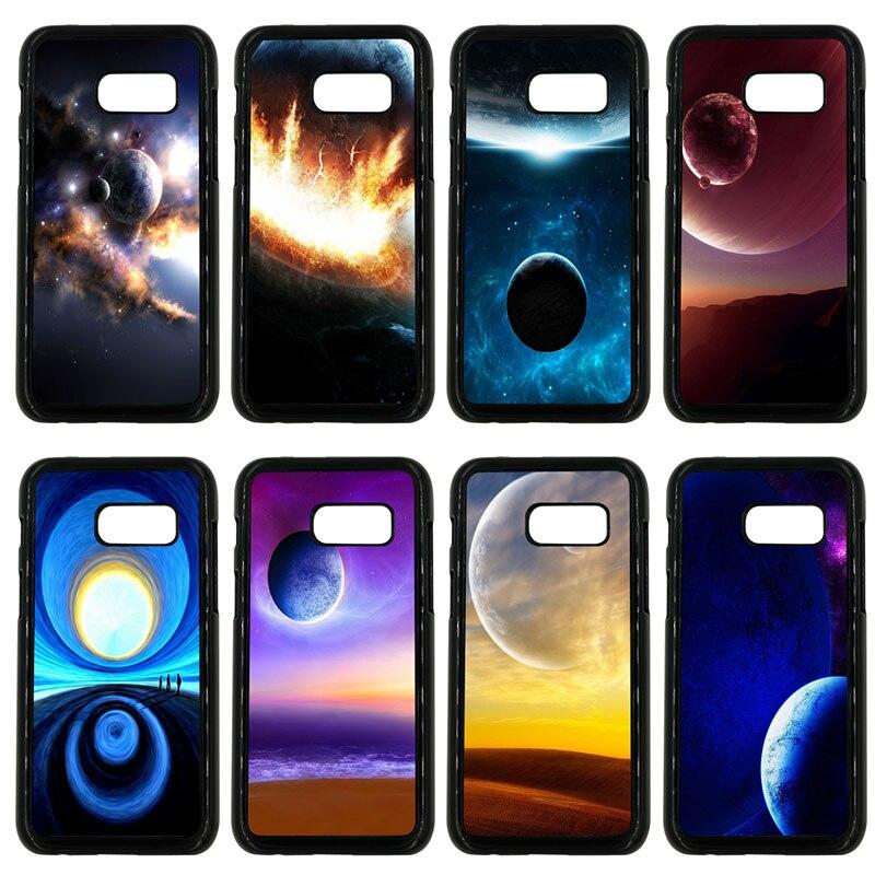 Planètes de l'espace et La Terre Cellulaire coque téléphone dure En Plastique pour Samsung Galaxy A3 A5 A7 A8 2015 2016 2017 2018 Note 8 7 5 3 ...