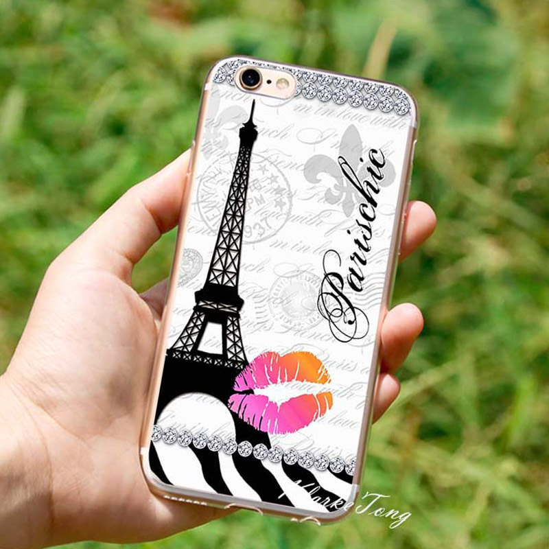 paris eiffel tower cell phone case for iphone 6 6s 7 plus brand logo new york cases coque soft. Black Bedroom Furniture Sets. Home Design Ideas