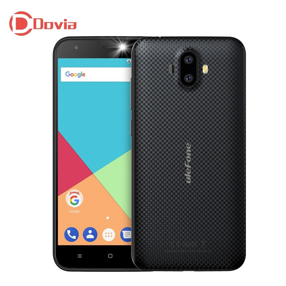 Ulefone S7 3G Mobile Phone 2 GB di RAM 16 GB di ROM Android 7.0 5.0 pollice MTK6580 Quad Core 13.0MP + 5.0MP Posteriore Dual Camera cellulare