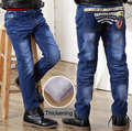 Thickening Boys pants jeans 2016 Fashion Boys Jeans for Spring Fall Children's Denim Trousers Kids Dark Blue Designed Pants