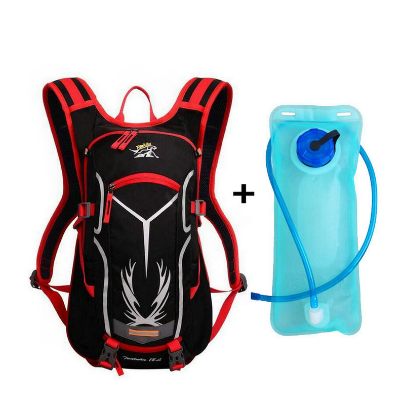 Waterproof Sport Bicycle Backpack 18L + 2L Water Bag Large Capacity for Outdoor Sport Riding Travel Mountaineering Hydration Waterproof Sport Bicycle Backpack 18L + 2L Water Bag Large Capacity for Outdoor Sport Riding Travel Mountaineering Hydration