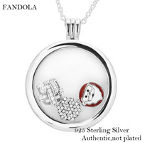 Sterling Silver Jewelry Necklaces for Women DIY Making Large Floating Locket Necklace with Christmas Wonder Petites Charms
