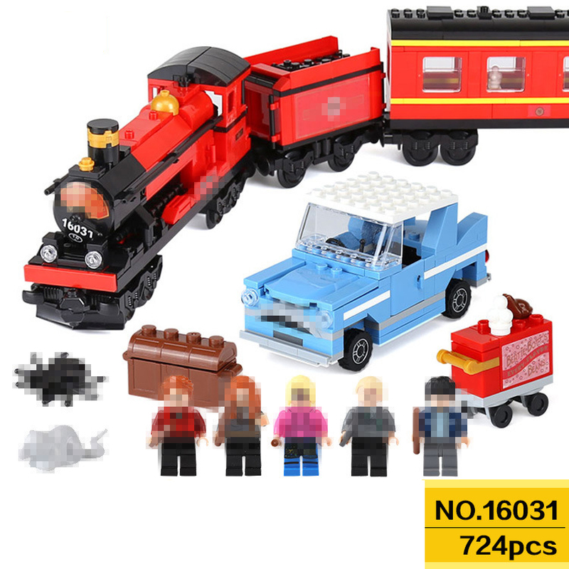 цена The Hogwarts Express Harry Potter Series Compatible LegoINGS Harry Potter Movie Hermione Ron Building Blocks Toys For Children
