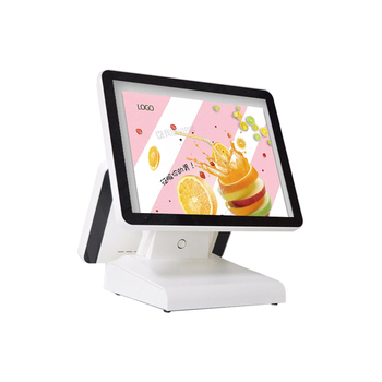 Super cheap fashion pos system 15+12 dual Inch Flat Screen POS All In One Cash Register For Restaurant POS system