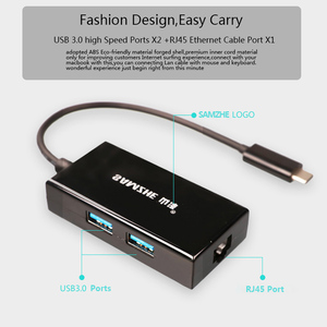 Image 3 - Type C to RJ45+USB 3.0 Port Adapter Converter Docking Station USB Splitter for Macbook Computer Notebook Mouse Keyboard