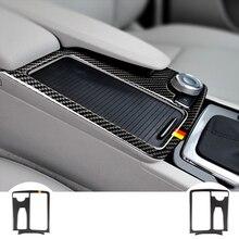 цена на Carbon Fiber Multimedia Handrest Panel   For mercedes W204(2007-2013) W212(2010-2012) C Class E Class Car Accessories sticker