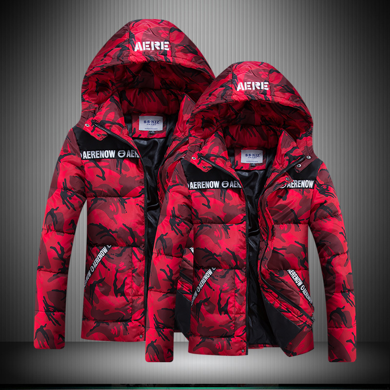 Camouglage His-and-Hers Thick Jacket&Coat Hooded Winter Warm Parkas Women Men Fashion Slim Outwear High Quality Clothing SY0026