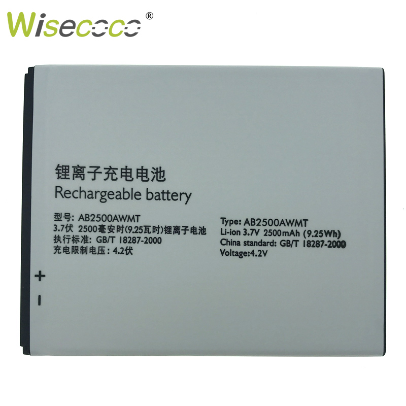 Wisecoco AB2500AWMT 2500mAh New Powerful Battery For Philips S318 CTS318 Phone Replace + Tracking Number