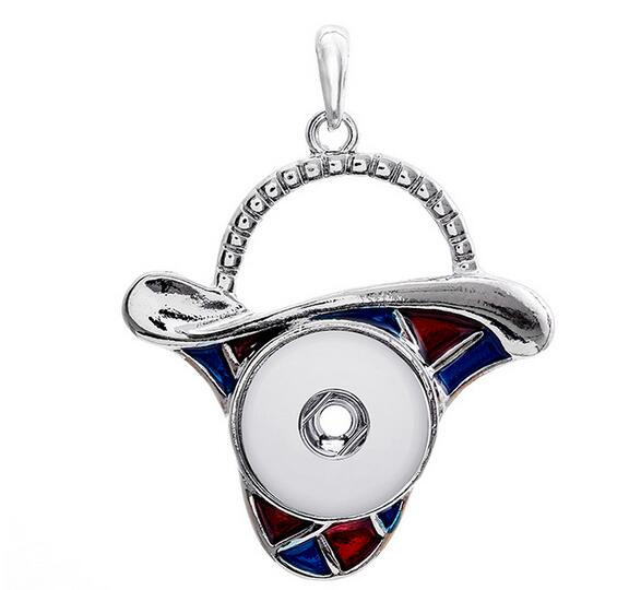 Metal snap button jewelry Christmas Gift Santa Claus pendant Necklace OEM, ODM (fit 18mm snaps) watches womme
