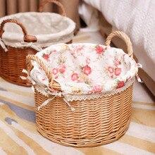 Ротанга плетеная корзина главная хранения корзины, содержащий закуски журнал разное коробка пикник корзина