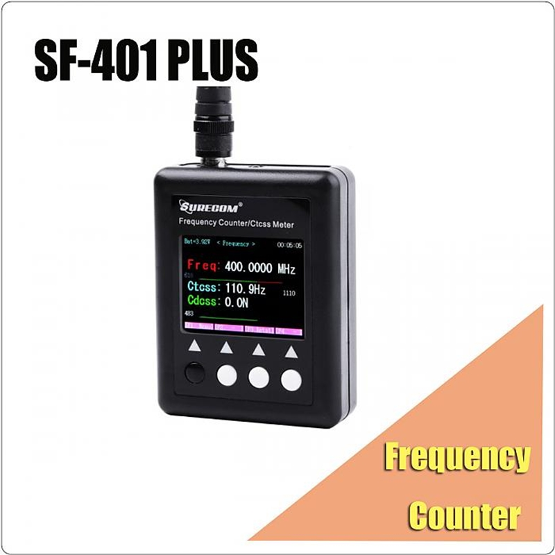 409SHOP SF401plus SF 401 plus 27Mhz 3000Mhz Frequency Counter meter for DMR Digital Radio