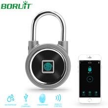 Смарт-замок без ключа, отпечаток пальца, Bluetooth, приложение, разблокировка, водонепроницаемый электронный дверной замок, USB Перезаряжаемый, Противоугонный замок безопасности