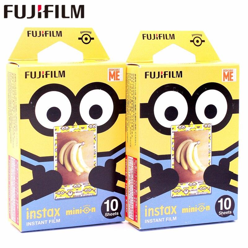 Fujifilm 20 листов Instax Гадкий я Желтый Миньон мгновенных Фильм фотобумага для Instax Mini 8 7 s 25 50 s 90 9 SP-1 SP-2 Камера