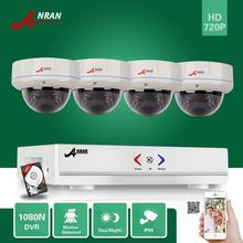 ANRAN 4CH 1080N HD AHD DVR 500GB HDD 720P CCTV 30IR Day Night Outdoor Vandal-Proof Dome Home Security Camera Surveillance System
