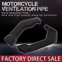 1 Pair Motorcycle Ram Air Intake Tube Duct Pipe Set Fits Gas Turbine For Honda CBR400RR NC23 CBR400 MC23 1988 1989 Accessories