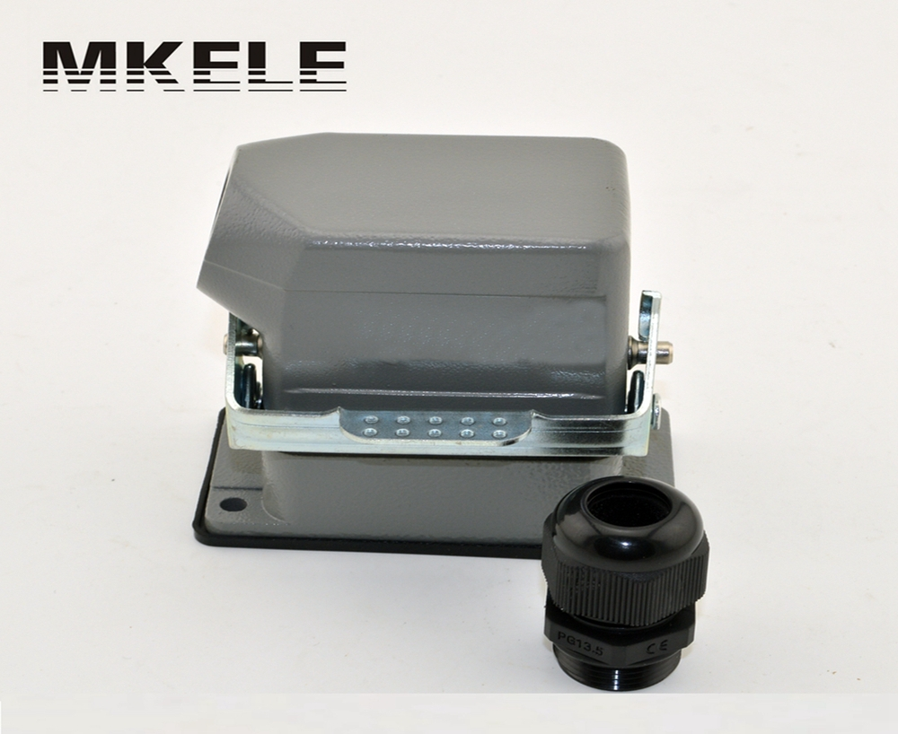 MK-HE-006-1 hot sale factory direct low price heavy duty truck battery connectors,heavy duty battery terminal connector blocks 48pin 16a 400v 500v heavy duty connector 48 core aviation plug mk he 048 1