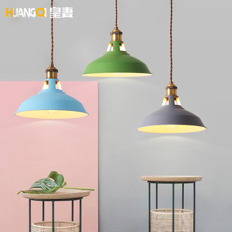 The creative clothing store bar cafe kitchen dining room table bedroom bedside lamp Macarons pendant lamp LO8811 personalized clothing store track lamp