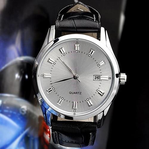 2017 New Hot 2017 New Men  watch Vintage Date Calendar Dial Faux Leather Business Analog Quartz Wrist Watch  6T3D faux leather quartz wrist watch