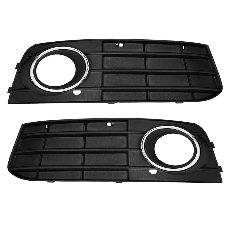 1 Pairs Audi A4 2009-2011 B8 A4L Front Bumper fog Light Grilles non-sline Left & Right Side - HK Kwok E-Commerce International Ltd. store