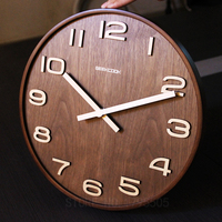 ない反射14インチシンプルなデザイン竹壁時計時計時計saat創
