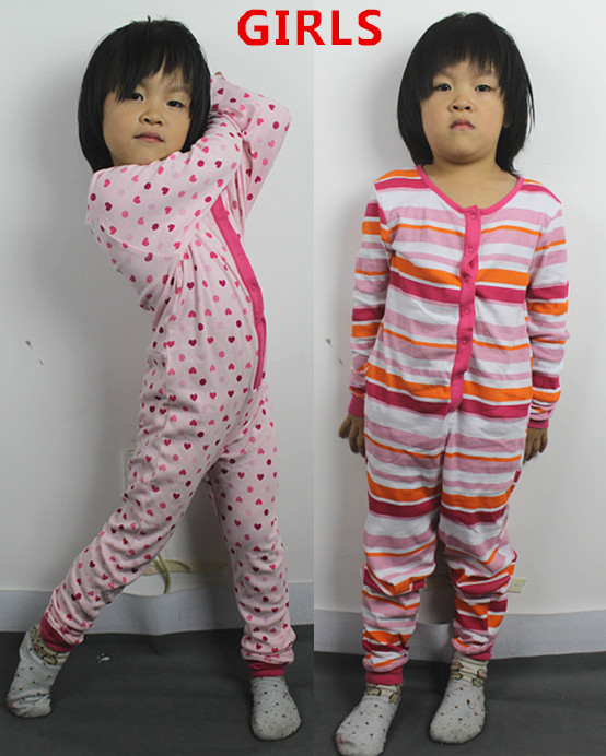 free shipping children nightwear onesie overall Blanket Sleepers old girls cotton sleepwear thin comfortable pajamas  jumpsuit