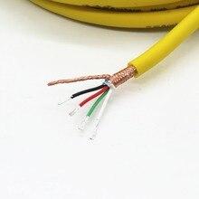 4 core USB Hohe leistung HIFI signal linie 4N OFC sauerstoff freies kupfer abgeschirmten net + FOLIE Kupfer überzogen silber draht Audio linie