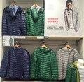 2017 pato invierno abajo parkas abrigo chaqueta de los hombres de moda masculina encapuchados ropa de abrigo abajo de ultra prendas de vestir exteriores de gran tamaño de alta calidad