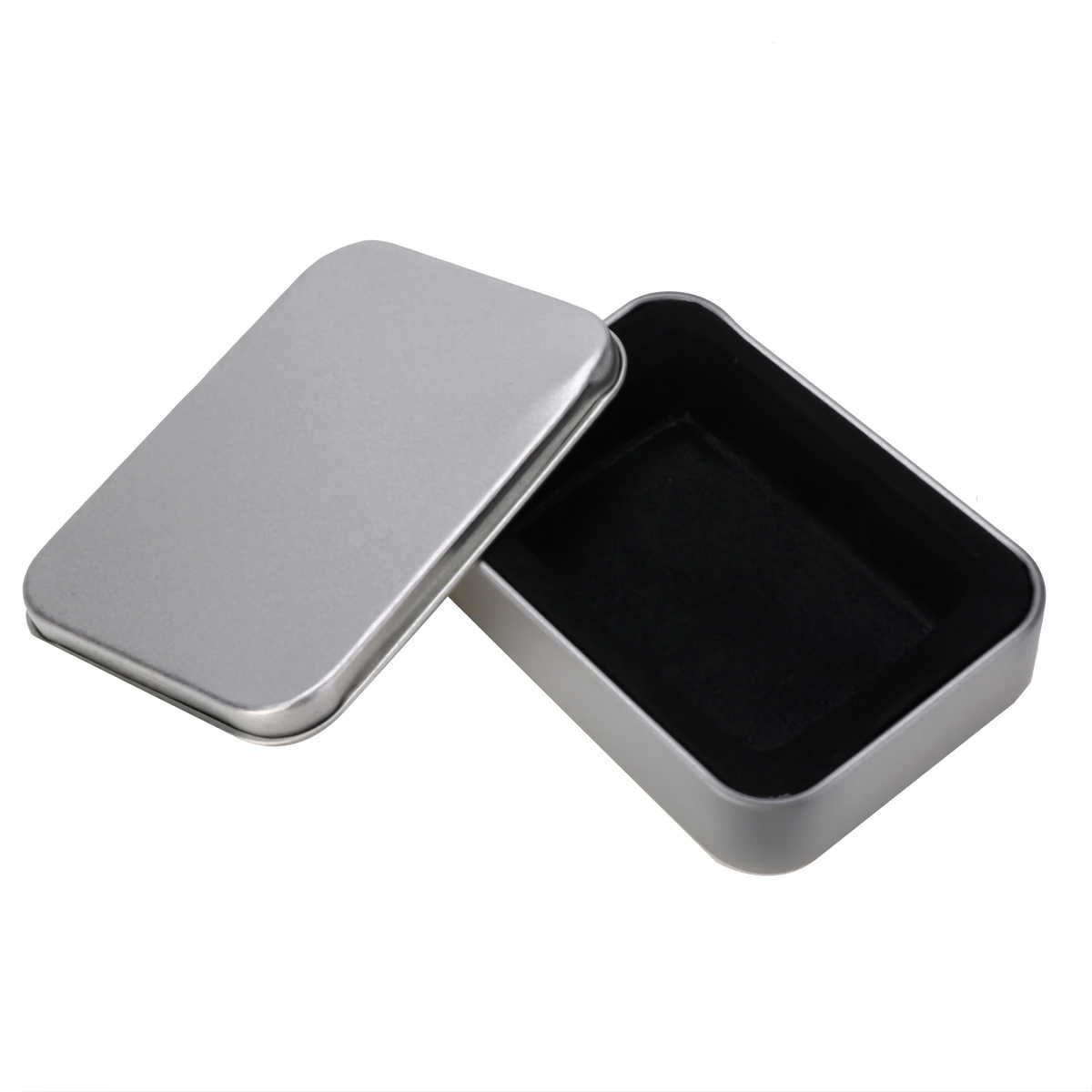 Mayitr Silver Metal Tin Box Gift Box For Cigarette Lighter Collectable Case Holder For Cigarette Storage Tools