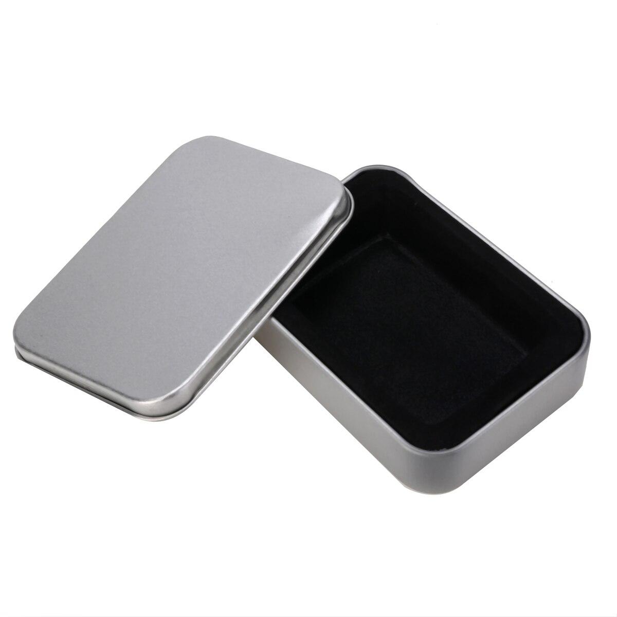 Fityle Small Iron Tin Storage Bag Gift Jewelry Box Decor Card Pill Case