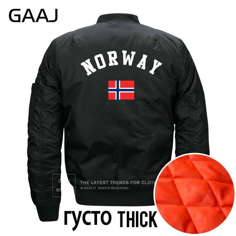 en venta variedad de estilos de 2019 mejor selección de GAAJ imprimir Noruega bandera chaquetas de los hombres de invierno Plus  tamaño chaqueta de abrigo de lana de otoño Militar chaqueta ropa Casual  cálido