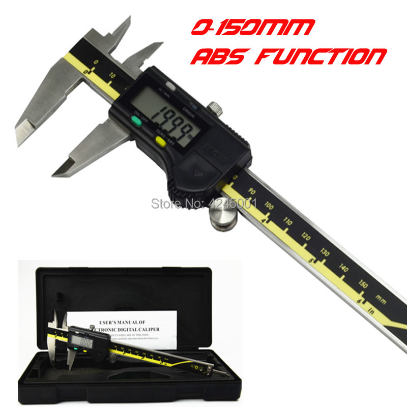 High Quality 150mm 6inch ABS Digital Vernier Caliper Electronic Caliper 0-150mm 0.01mm  Digital Vernier Caliper